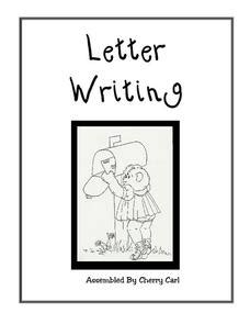 Write a letter lesson plan